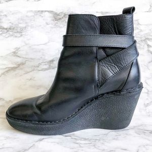 Pierre Hardy Black Leathered Wedge Ankle Booties